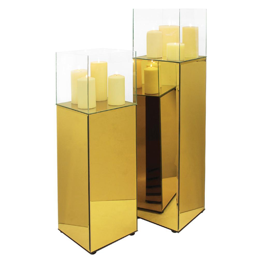 Mirror Glass Display Columns