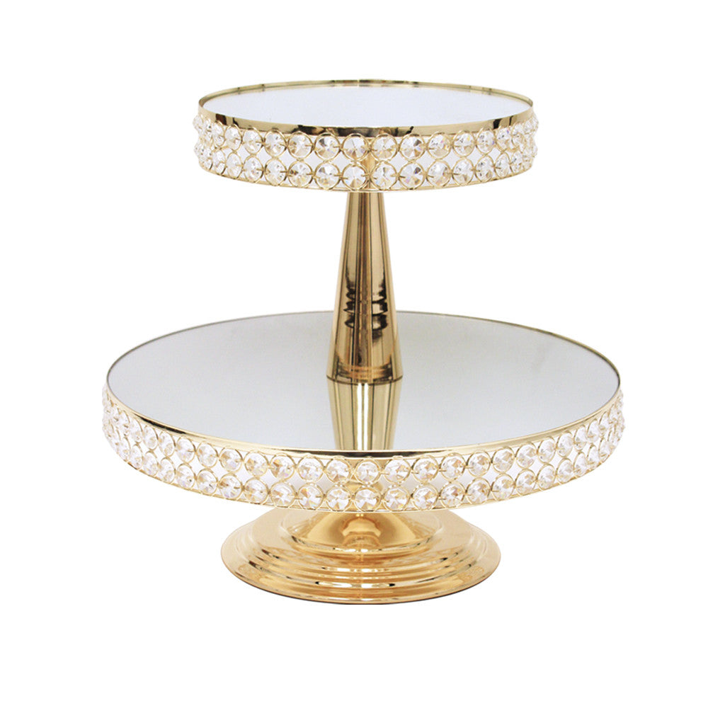 Crystal Single/Tiered Cake Stands