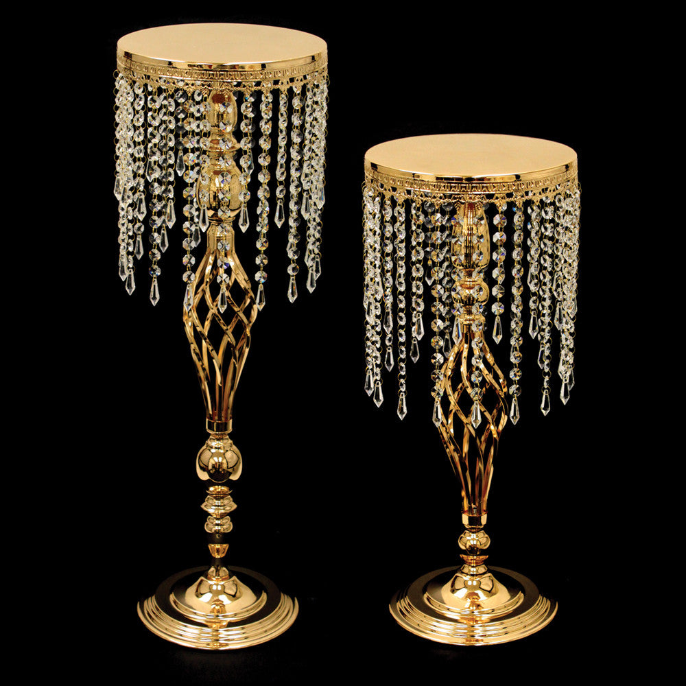 Hanging Crystals Floor/Table Cake Stand