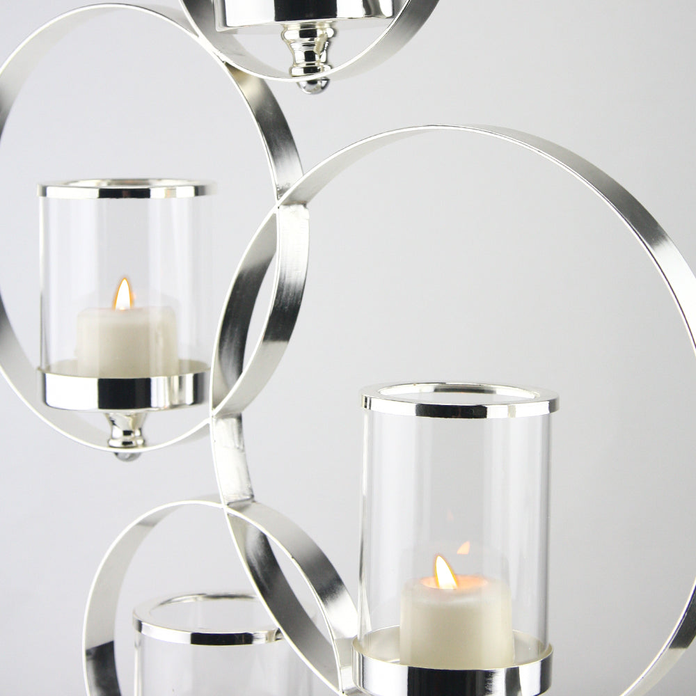 4-Ring Metal Candle Holder