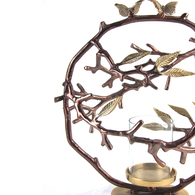 Bronze Vine Candle Holder