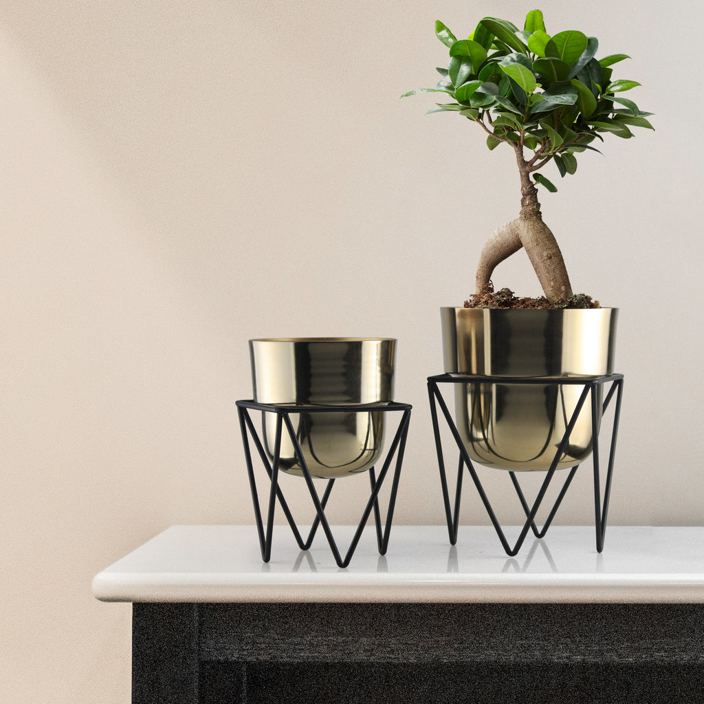 Metal Planter with Stand