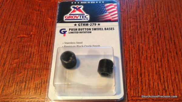Grovtec Limited Rotation Push Button Swivel Bases