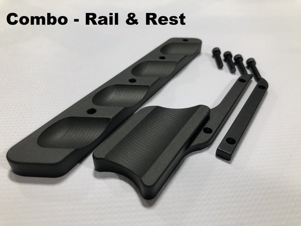 Gray Ops CNC Thumb Rest / Rail for MPA Chassis
