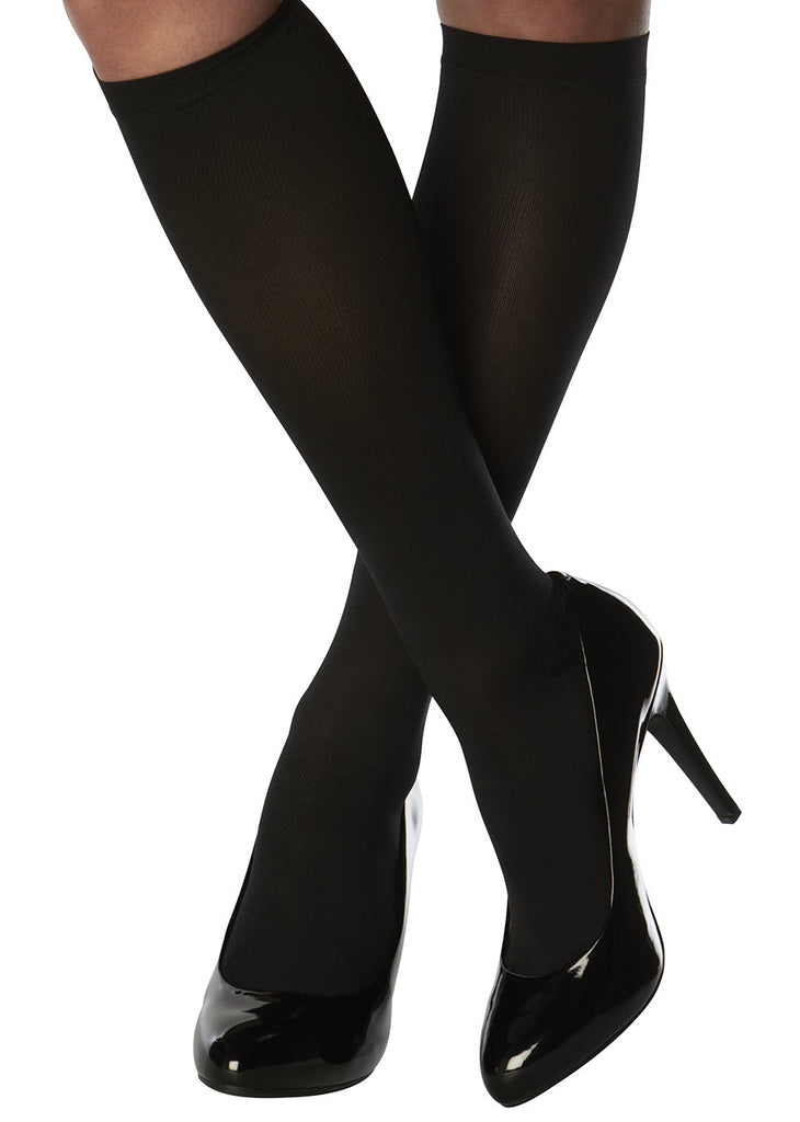 Black Knee-High Compression Hosiery