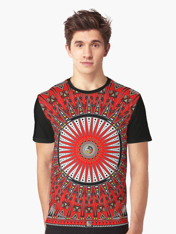 Native American Graphic Shirt by Melvin War Eagle