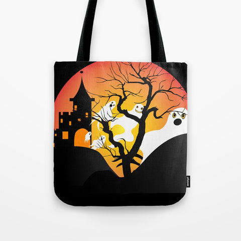 Ghost Halloween Tote Bag by Melvin War Eagle