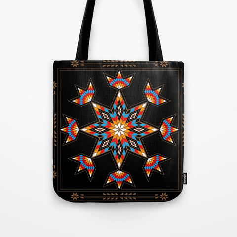 Morning Star Tote Bag by Melvin War Eagle