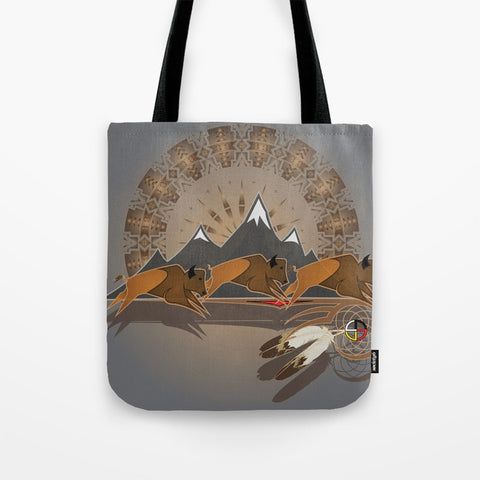 Buffalo People Tote Bag by Melvin War Eagle