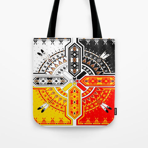 4 Direction Tote Bag by Melvin War Eagle