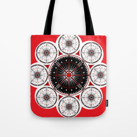 Tribal Gathering Tote Bag by Melvin War Eagle