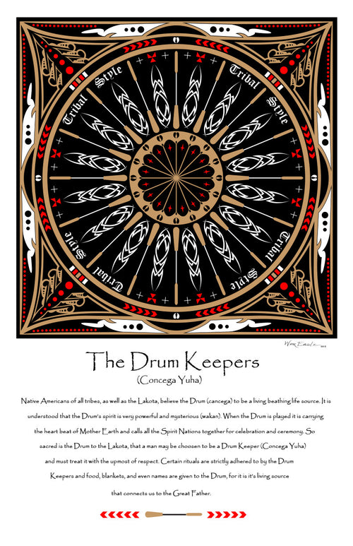 Drum Keepers Home Decor Gallery Prints - Hanblechia Designs