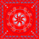 Native American Red Bandana / Kerchief Hanblechia Designs by Melvin War Eagle