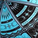 The Storm Black Blue Luxury Native American Umbrella - Hanblechia Designs