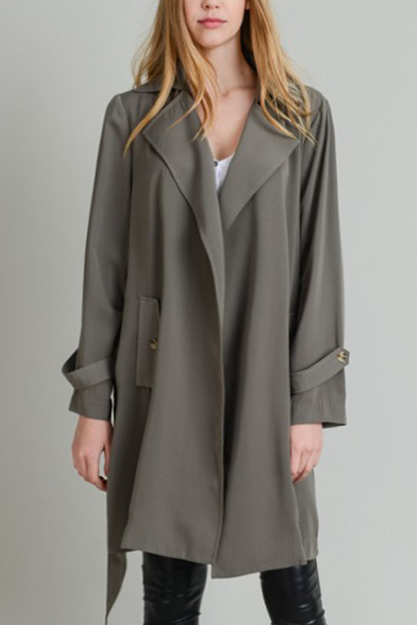 SOFT TRENCH COAT HIGH WAIST TIE