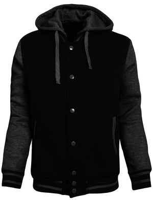 MEN'S VARSITY COMFORTABLE BASEBALL JACKETS WITH HOODIE