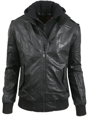 PREMIUM FAUX LEATHER MOTO JACKET NEMJ09