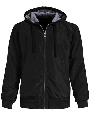 CASAUL LIGHT WEIGHT WINDBREAKER HOODIE ZIP-UP NEMJ101