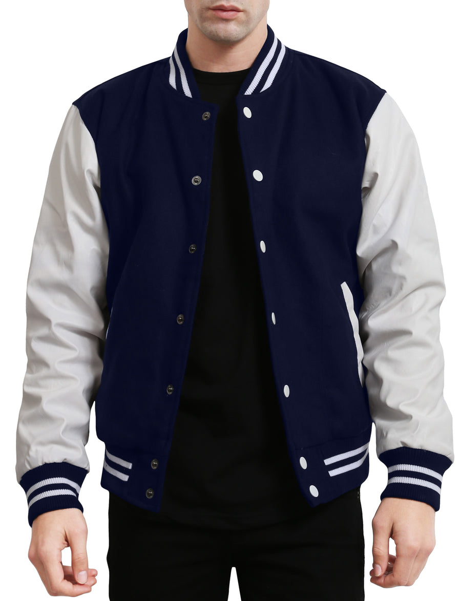 VARSITY BASEBALL JACKET WITH HOODIE NEMJ17 PLUS