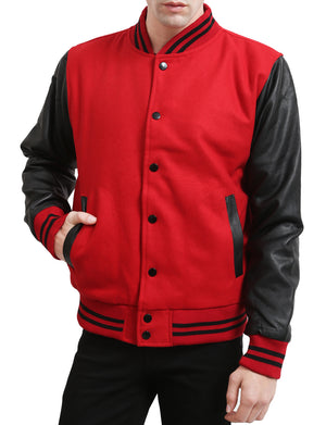 VARSITY BASEBALL JACKET WITH HOODIE NEMJ17