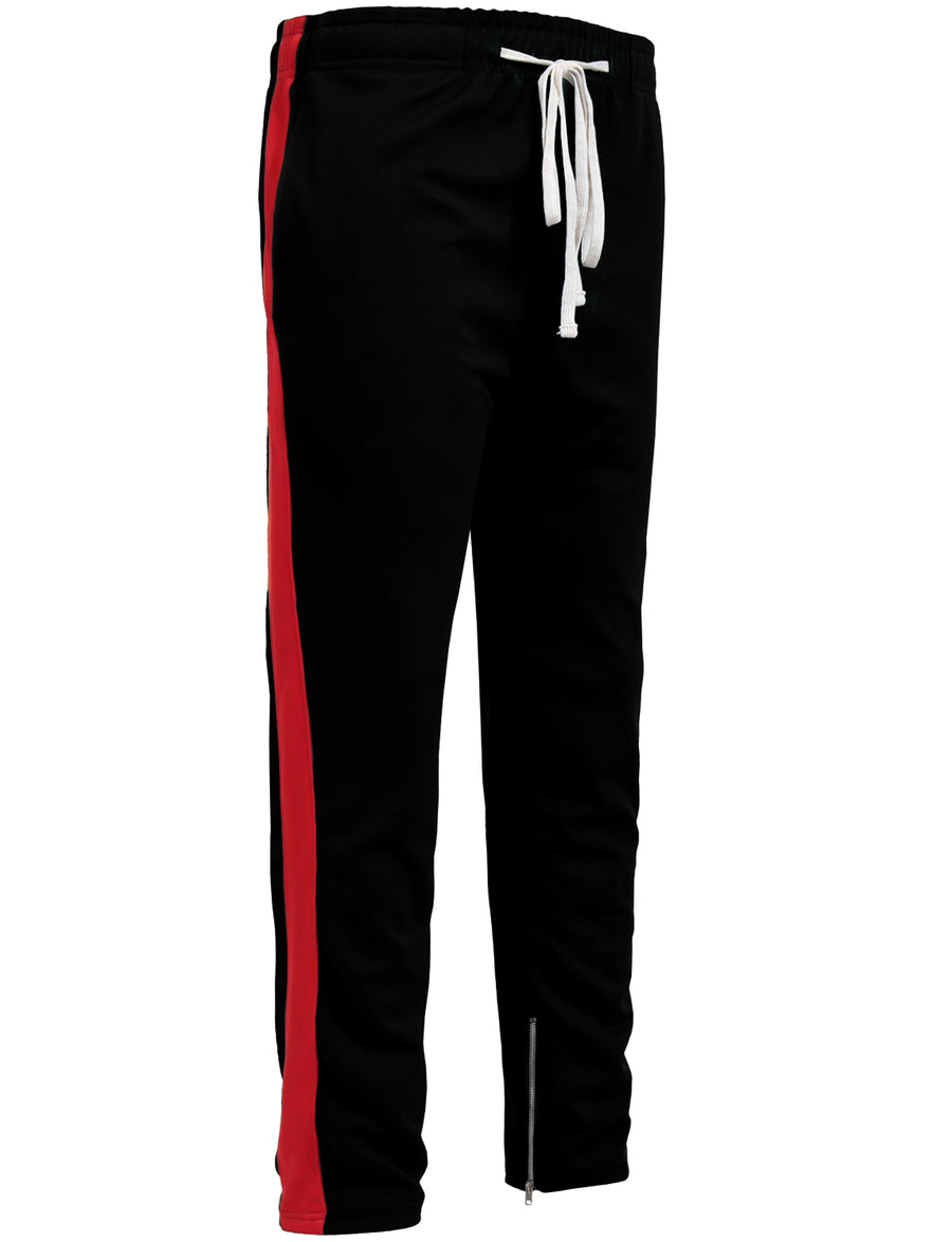 ACTIVE SIDE STRIPED JOGGER PANTS W/ANKLE ZIPPER NEMP15
