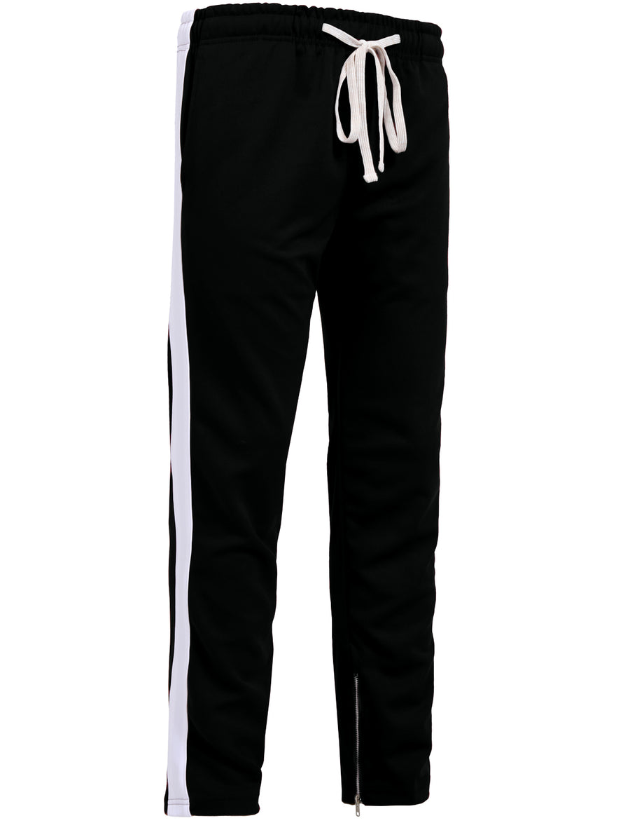 ACTIVE SIDE STRIPED JOGGER PANTS W/ANKLE ZIPPER NEMP15 PLUS