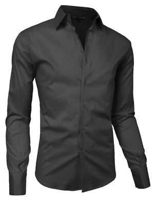 SLIM FIT TAILORED BUTTON DOWN SHIRTS NEMT01