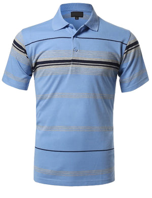 BASIC STRIPE POLO T-SHIRTS NEMT1103