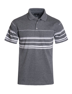 BASIC STRIPE POLO T-SHIRTS NEMT1113 PLUS