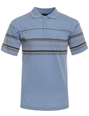 BASIC STRIPE POLO T-SHIRTS NEMT1113
