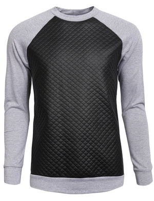 CASUAL LONG SLEEVE MIX MEDIA SWEAT-SHIRTS NEMT19