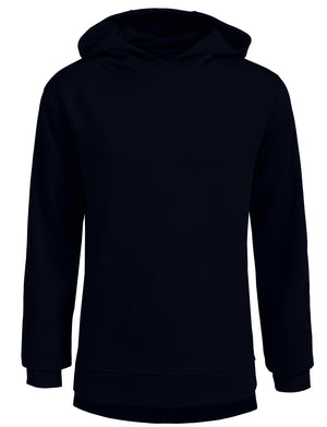 BASIC PULLOVER LONG SLEEVE HOODIE WITH SIDE ZIPPER NEMT20