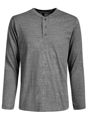 HALF BUTTON DOWN HENLEY LONG SLEEVE T-SHIRTS NEMT274
