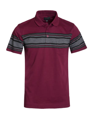 BASIC STRIPE POLO T-SHIRTS NEMT301 PLUS