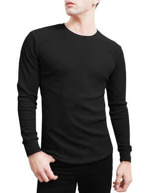 BASIC LIGHT WEIGHT LONG SLEEVE ROUND NECK THERMAL SHIRTS NEMT42