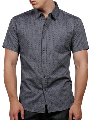PRINTED SHORT SLEEVE BUTTON DOWN SHIRTS NEMT52