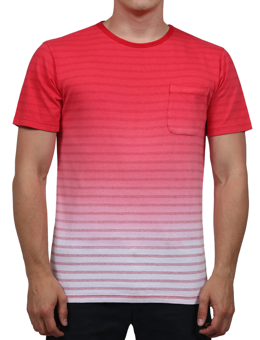 CASUAL BASIC STRIPED GRADIENT OMBRE LIGHT WEIGHT-SHIRTS NEMT74