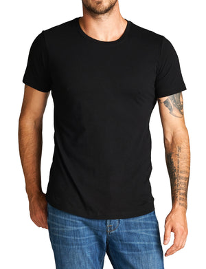 BASIC WIGHT U-NECK LINE SHORT SLEEVE T-SHIRTS NEMT80