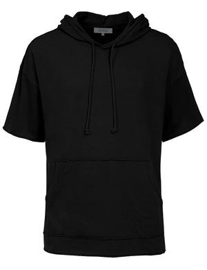 MEN'S LONGLINE HIPSTER HIP HOP SHORT SLEEVE HOODIE SHIRTS