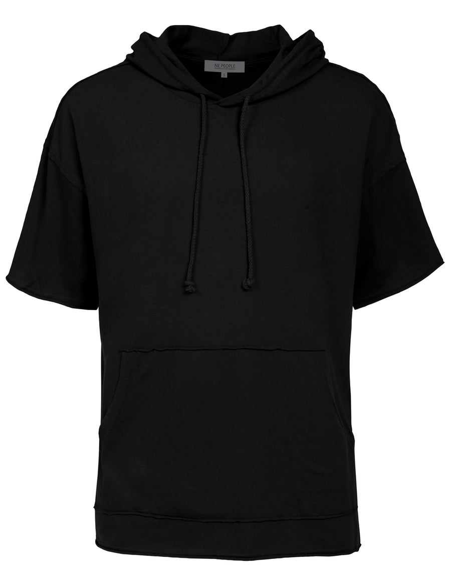 LONGLINE HIPSTER HIP HOP SHORT SLEEVE HOODIES SHIRTS NEMT91