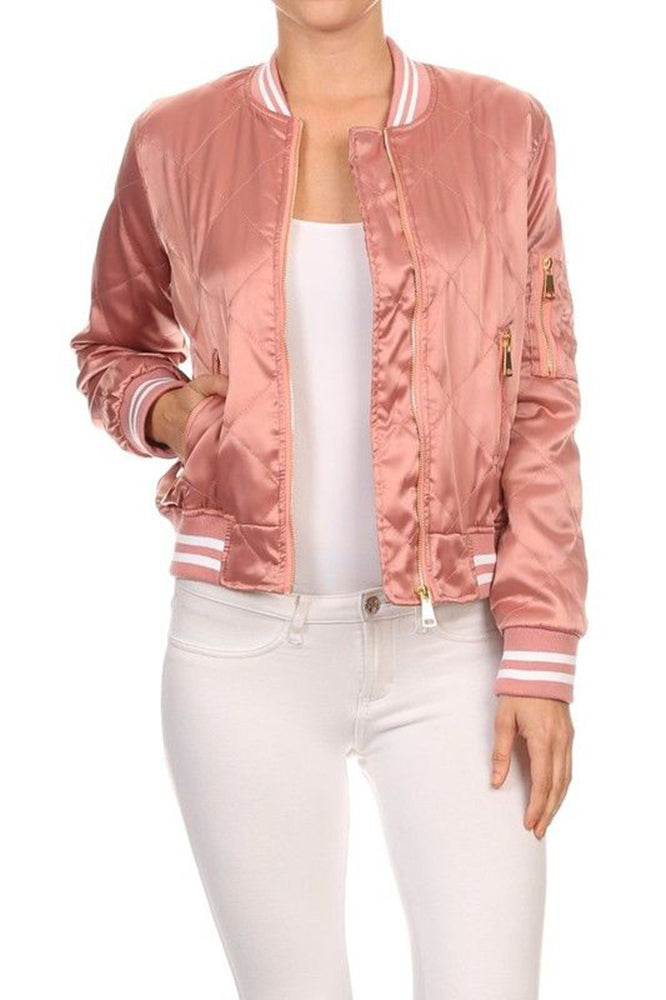 BASIC QUILTED STYLES BOMBER JACKET COAT NEWBJ02