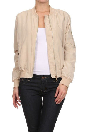 BASIC QUILTED STYLES BOMBER JACKET COAT NEWBJ07