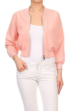 BASIC QUILTED STYLES BOMBER JACKET COAT NEWBJ16
