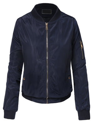 CLASSIC QUILTED ZIP-UP BOMBER JACKET NEWBJ25 PLUS