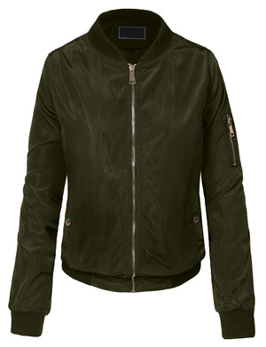 CLASSIC QUILTED ZIP-UP BOMBER JACKET NEWBJ25
