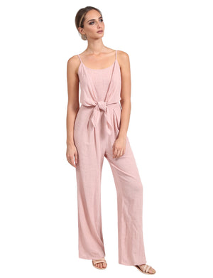 SCOOP NECK WITH SMOCKED BACK SLEEVELESS COTTON JUMPSUITS NEWBS3360