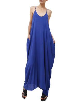 LIGHT WEIGHT SHOULDER STRAPS MAXI DRESS NEWDR25