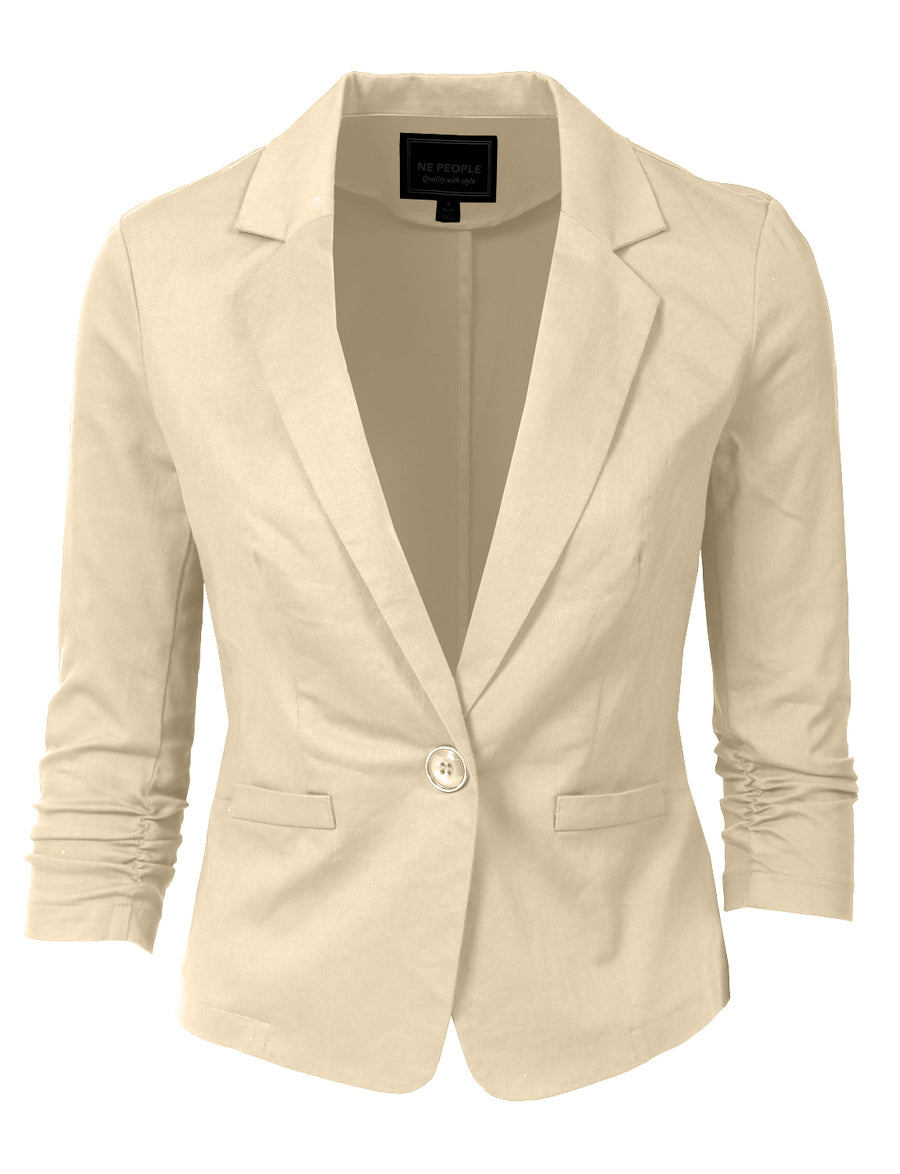 3/4 SLEEVE CASUAL BLAZER NEWJ100 PLUS