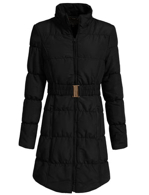 LIGHT WEIGHT QUILTED LONG JACKET NEWJ1134 PLUS