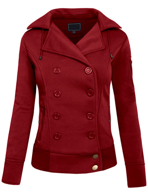 CLASSIC DOUBLE BREASTED PEA COAT WITH BELT NEWJ17